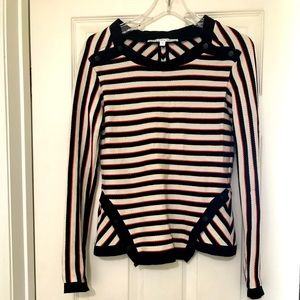Veronica Beard stripe knit pullover